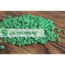 Вторичная гранула ПЭНД (полиэтилен низкого давления) для экструзии. ПЭНД выдувной. Цвет зеленый