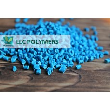 Вторичная гранула ПЭНД (полиэтилен низкого давления) для экструзии. ПЭНД выдувной. Цвет ярко-синий