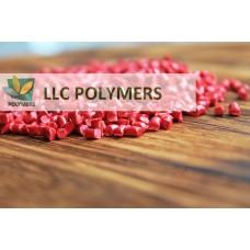 Вторичный полиэтилен ПЭНД литьевой. Цвет красный
