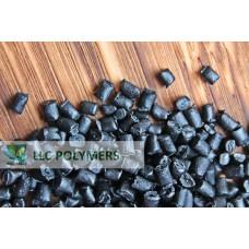 Вторичная гранула ПЭНД литьевой. Цвет черный