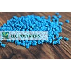 Вторичный полиэтилен ПЭНД литьевой. Цвет синий