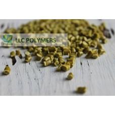 Вторичная гранула ПЭНД (полиэтилен низкого давления) для литья. ПЭНД литьевой. Цвет желтый
