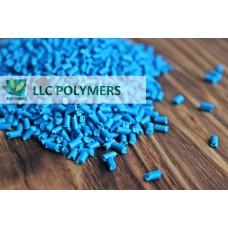 Вторичная гранула Полистирол (УПМ). Цвет голубой